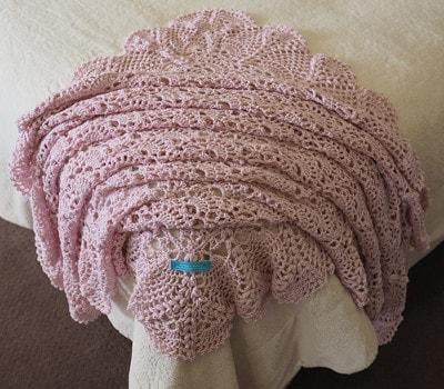 Pink Bamboo & Wool Shawl