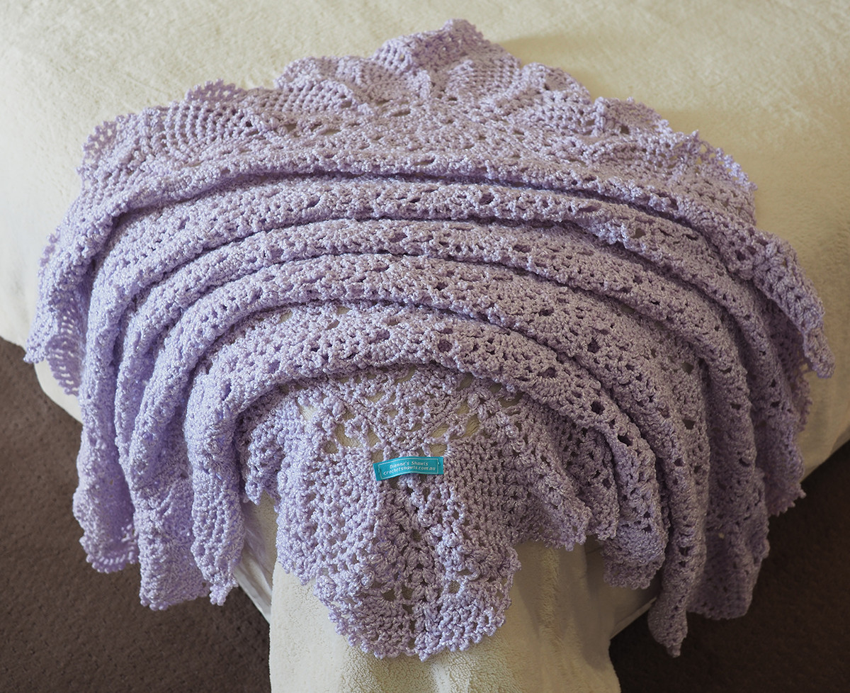 Free Crochet Patterns Baby Shawls : Mauve 4 Ply Baby Shawl Crochet Baby Shawls & Decorative ...